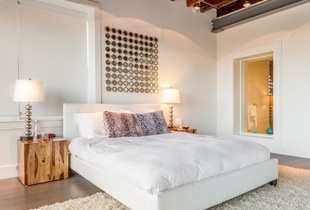 Bright, white, spacious bedrooms abound in this rental
