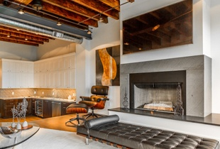 One of several new fireplaces now stand in the Ogden property's lounge