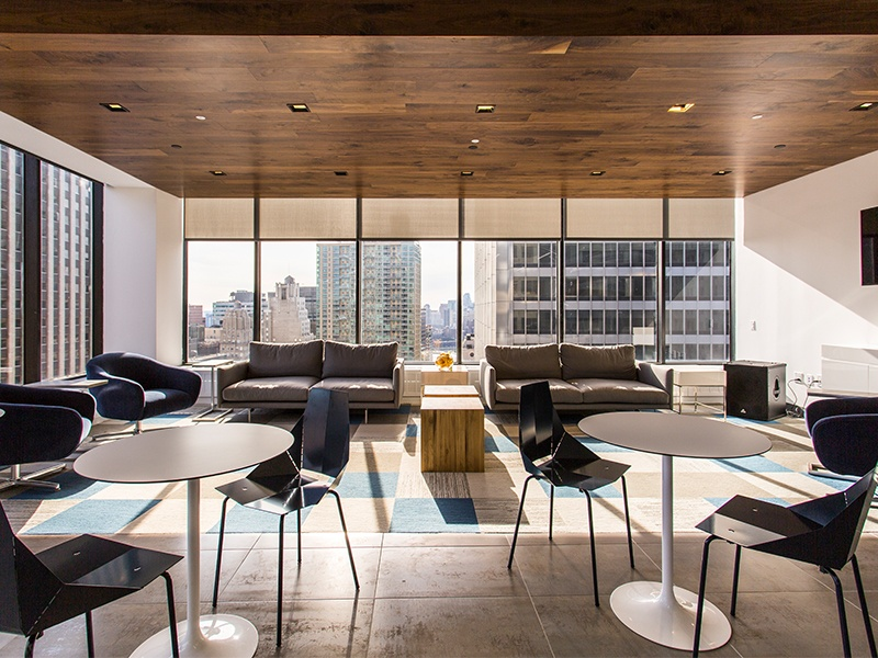 walnut-clad lounge