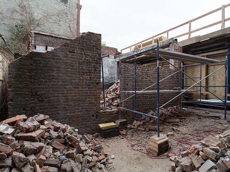 garage under construction
