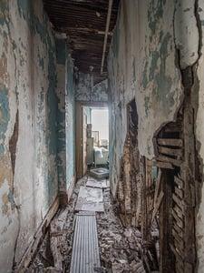 crumbling interior