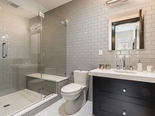 gray-and-white bath