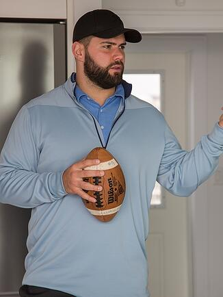 Justin Pugh at home