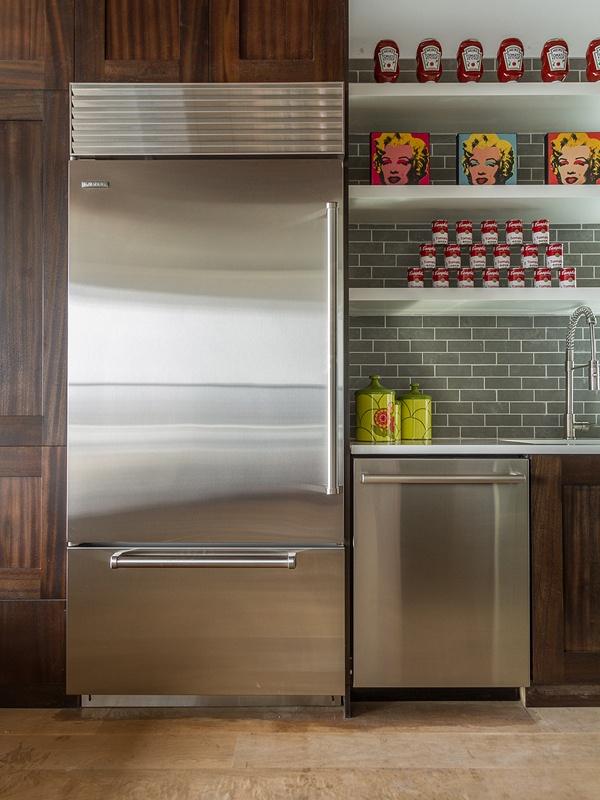 stainless steal fridge