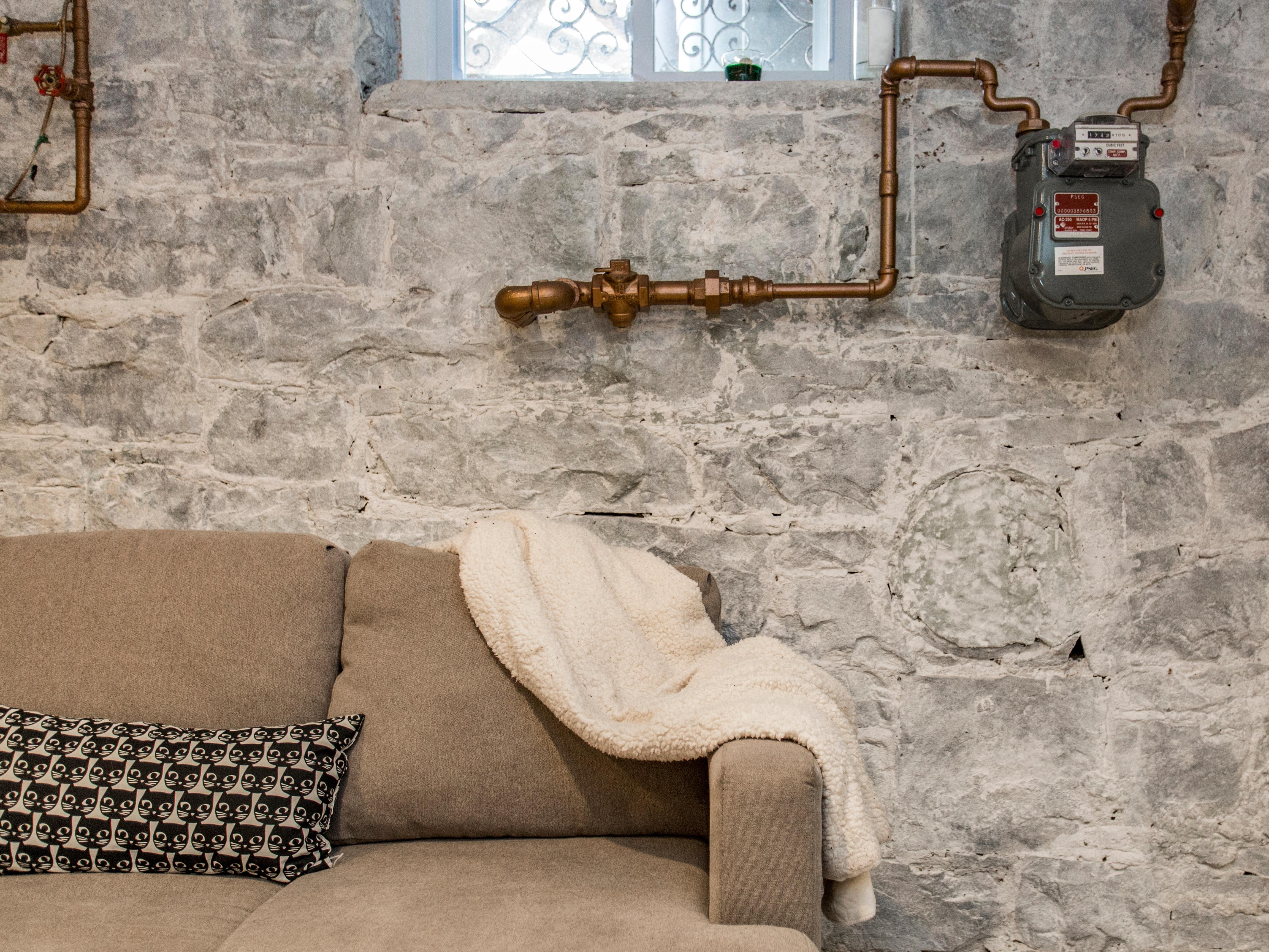 whitewashed walls