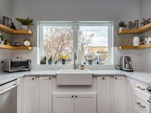 wide kitchen window