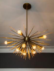 spiny bronze chandelier