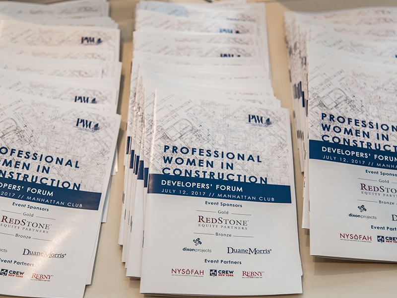 PWC event pamphlets