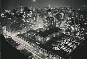 ariel view penn station