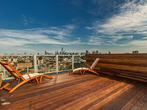 Roof deck with views