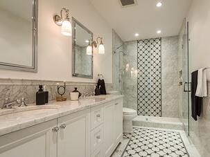 black white bathroom design