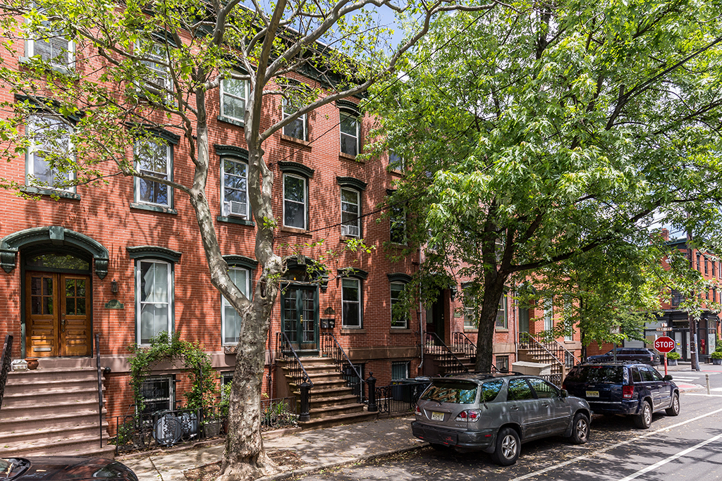Jersey-City-brick-apartments-on-tree-lined-street